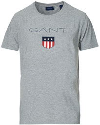 03088674e2f GANT Shield Crew Neck Tee Grey Melange