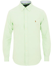 Polo Ralph Lauren Slim Fit Oxford Contrast Shirt Lime 6ef6abe6da522