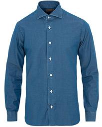 Barba Napoli Dandylife Slim Fit Denim Shirt Indigo 57de4a5771fec