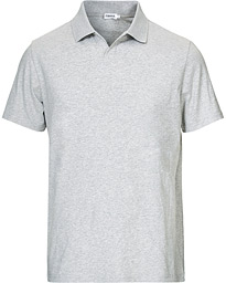 Soft Lycra Polo T-Shirt Light Grey Melange