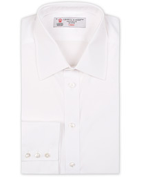 Turnbull & Asser Regular Fit T&A Collar Poplin Shirt White