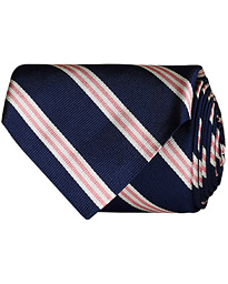 Brooks Brothers Striped Tie 8 cm Navy/Pink