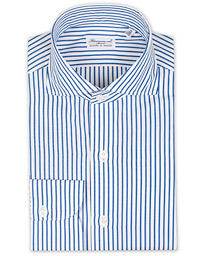 Finamore Napoli Milano Slim Fit Striped Poplin Shirt Blue 6795d2909884d