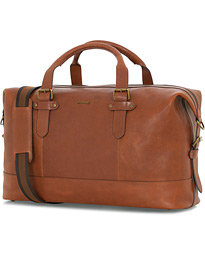 Morris Christopher Leather Weekendbag Mid Brown