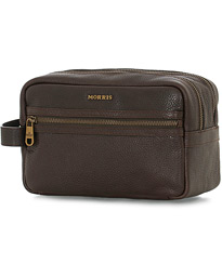 Morris Patrick Toilet Bag Dark Brown