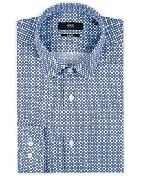 4f7e9fa3 BOSS Isko Printed Slim Fit Shirt Light Blue