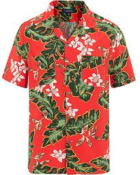 82cadf5f114 J.Crew Rayon Camp Collar Short Sleeve Shirt Palma Floral Red