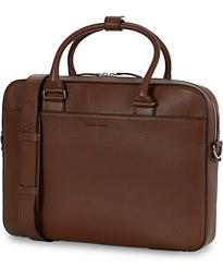 Bosun Grained Leather Briefcase Brown