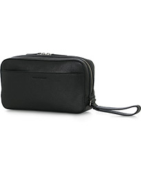 Wes Grained Leather Toiled Bag Black