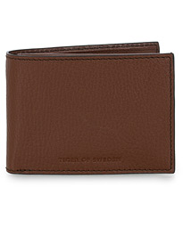 Wrene Grained Leather Wallet Brown