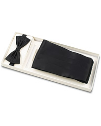 Silk Cummerbund Set Black  Black