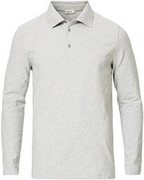 Filippa K Luke Lycra Poloshirt Light Grey Melange