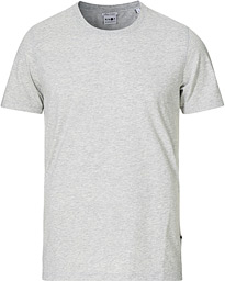 Pima Crew Neck Tee Light Grey Melange