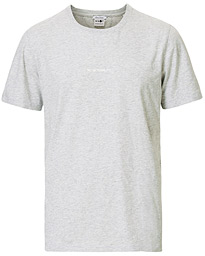 Ethan Printed Crew Neck Tee Light Grey Melange