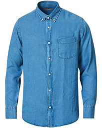 NN07 Levon Tencel Denim Shirt Light Blue