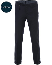 Incotex Slim Fit Flannel Trousers Navy