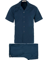 Cleverly Laundry Washed Cotton Pyjama Short Set Navy