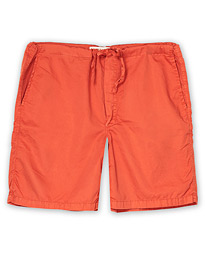 Washed Cotton House Shorts Brick