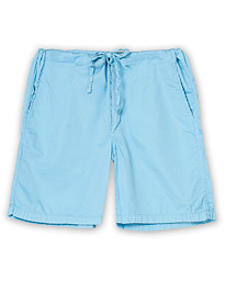 Washed Cotton House Shorts Faded Blue