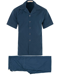 Cleverly Laundry Washed Cotton Pyjama Continental Set Navy