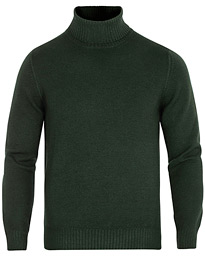 Vintage Merino Knitted Rollneck Green
