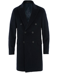 Sebastian Wool/Cashmere Double Breasted Coat Navy