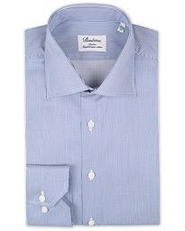 311c22ce8dc0 Stenströms Slimline Thin Stripe Shirt White/Dark Blue