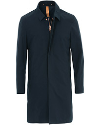 Private White V.C. Unlined Cotton Ventile Mac Coat 3.0 Midnight Navy