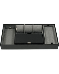 Howard Valet Tray with Cuff Black/Grey Pebble