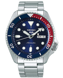 Seiko 5 Sports Mens 43mm 100m Automatic Steel/Blue Dial
