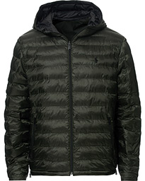 Polo Ralph Lauren Reversible Down High Gloss Jacket Black/Olive