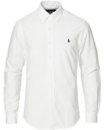 Polo Ralph Lauren Slim Fit Garment Dyed Oxford Shirt White