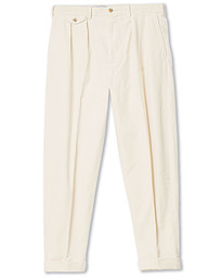 Polo Ralph Lauren Corduroy Pleated Turn Up Pants Andover Cream