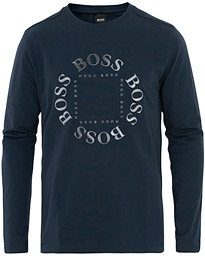 BOSS Athleisure Togn Logo Long Sleeve Tee Navy/Silver