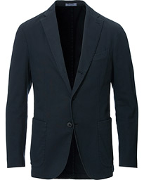Boglioli K Jacket Structured Cotton Blazer Dark Blue