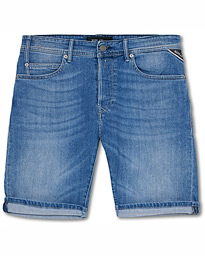 Replay RBJ901 Super Stretch Jeans Shorts Light Blue