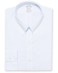 Regent Fit Non Iron Gingham Shirt Blue