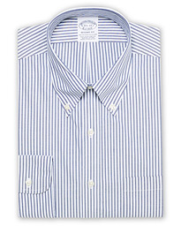 Regent Fit Non Iron Stripe Shirt Dark Blue