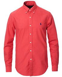 Polo Ralph Lauren Slim Fit Garment Dyed Oxford Shirt Cactus Red
