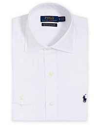 Polo Ralph Lauren Custom Fit Cotton Stretch Cut Away Shirt White