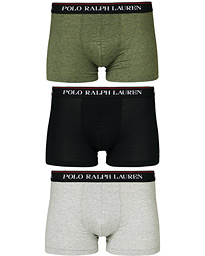 Polo Ralph Lauren 3-Pack Trunk Black/Grey/Green