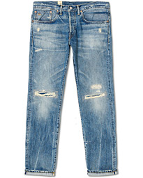 RRL Slim Fit Worked Selvedge Jeans Crisfield Wash