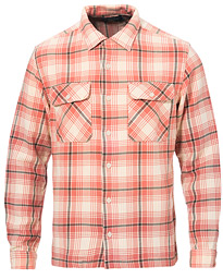 RRL Cotton Plaid Shirt Dusty Red