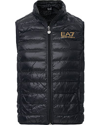 EA7 Train Core Light Down Vest Black/Gold