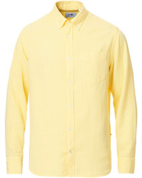 NN07 Levon Lyocell/Linen Button Down Shirt Yellow