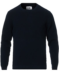 Julian Cotton Knitted Crew Neck Navy