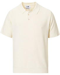NN07 Alfie Viscose/Cashmere Knitted Polo Off White