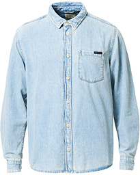 Nudie Jeans Albert Light Structure Denim Shirt Light Washed