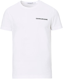 Calvin Klein Jeans Chest Institutional Crew Neck Tee White