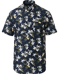 GANT Lemon Flower Printed Short Sleeve Shirt Insignia Blue